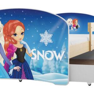 pat copil frozen, pat pentru un copil, pat lemn, pat cu lada, pat cu saltea inclusa,